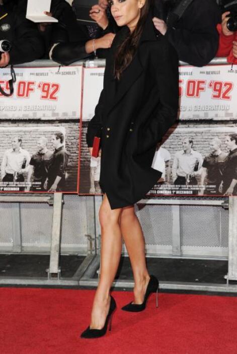 Victoria Beckham se robó la mirada de los asistentes.