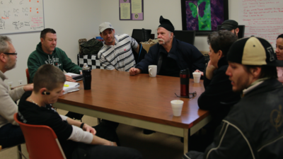 Sesión en el centro para drogadictos Hope en New Hampshire