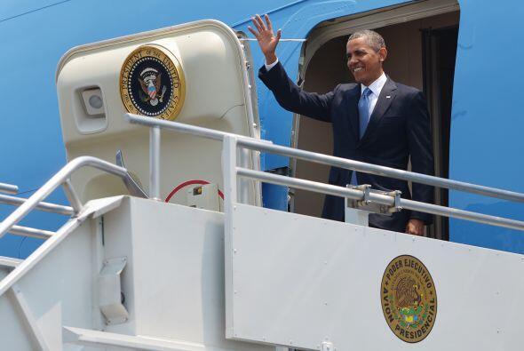 El presidente de Estados Unidos, Barack Obama, llegó a Costa Rica...