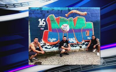 Los compañeros del fallecido José Fernández le hicieron un mural en Río...