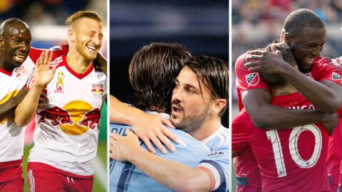 New York Red Bulls, New York City FC y Toronto FC