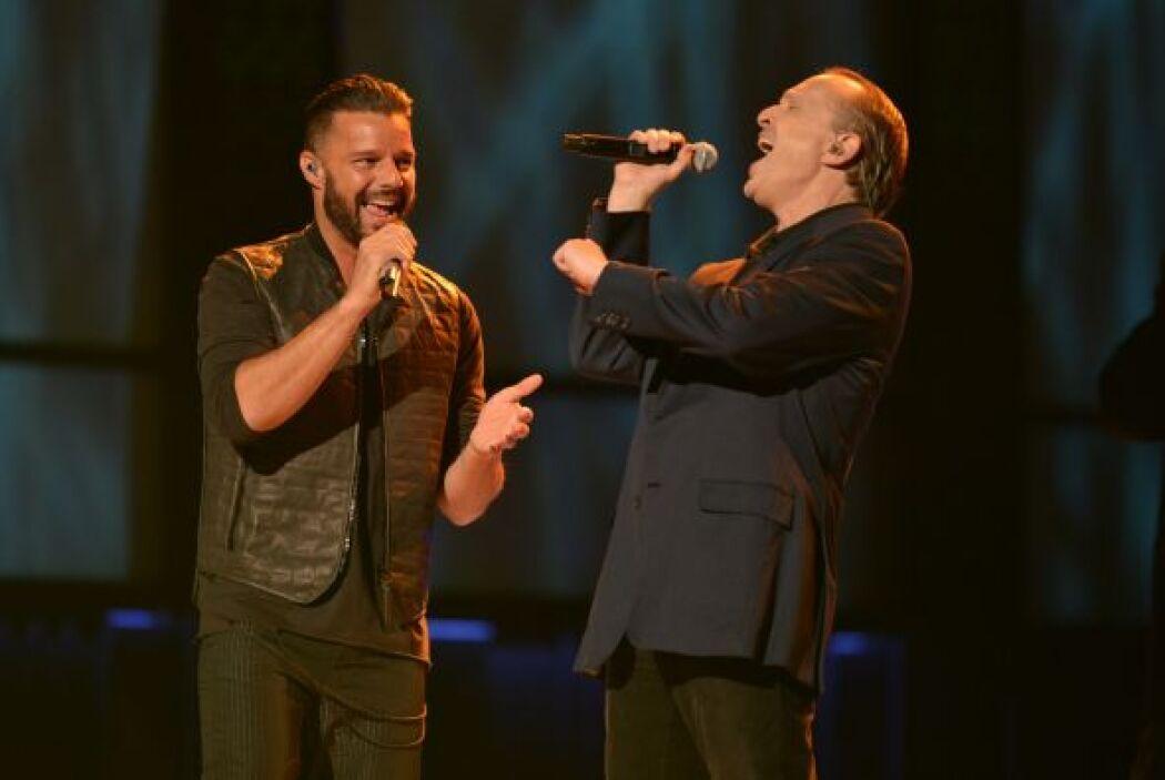 Encontramos a Ricky Martin junto a Miguel Bosé en el tercer día de ensayos.
