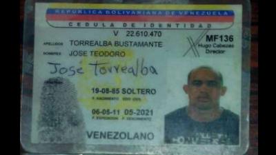 """Documento de identidad falso utilizado por alias """"El Picure"""" y que fue i..."""