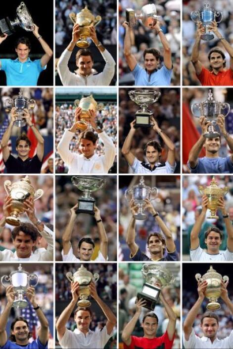 El suizo Roger Federer encabeza la lista de los más ganadores en Grand S...