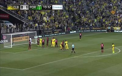 La alegría de Portland duró poco... Justin Meram igualó el partido