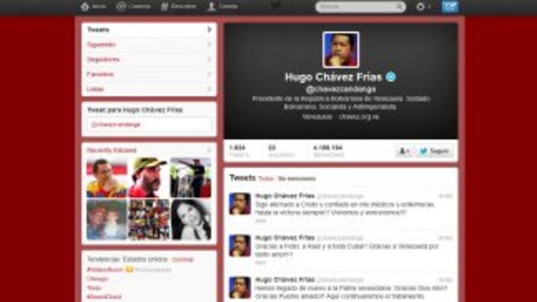 El Twitter de Hugo Chávez aún está abierto.