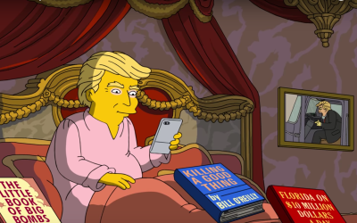 Así ven 'Los Simpsons' los primeros 100 días de Trump