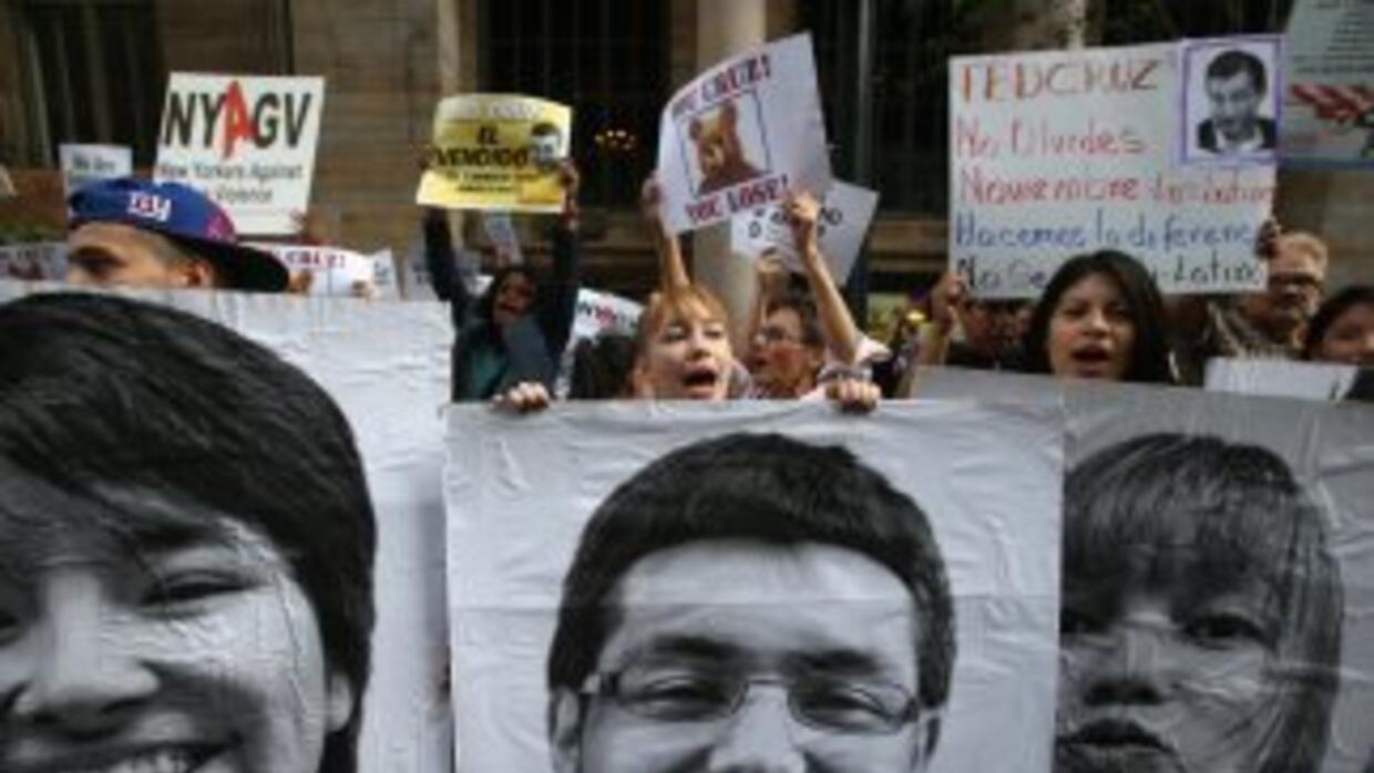 Dreamers durante una protesta en Nueva York para pedirle al Congreso que...