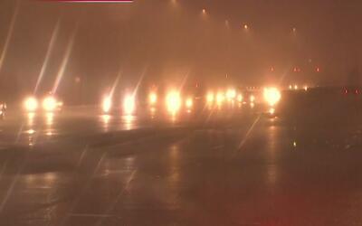 Las carreteras de Chicago, con poca visibilidad por neblina