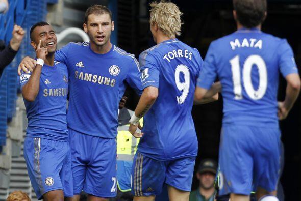 """Tras marcar el gol del triunfo de los """"Blues"""" ante el Reading..."""