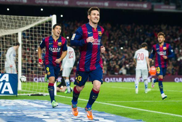 Leo Messi fue el encargado de cobrar la pena máxima pero Jan Oblak detuv...