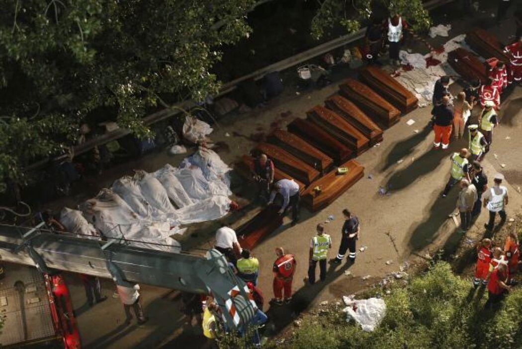 Según el último parte, tras el accidente se recuperaron 36 cadáveres, un...