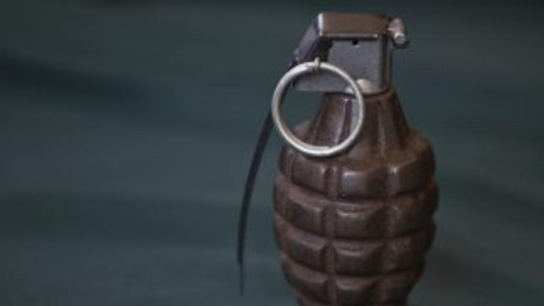 Esta granada fue entregada por un ciudadano en una feria de canje de arm...
