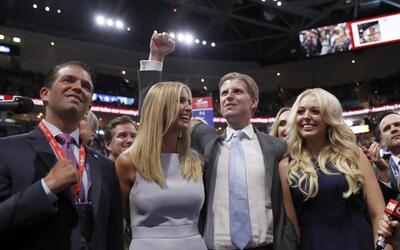 Los hijos de Trump son algunos de sus más cercanos asesores.