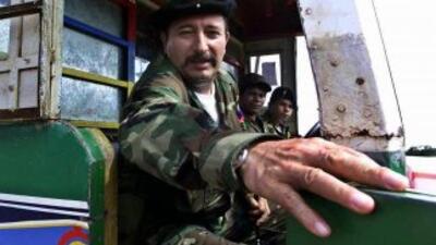 """El jefe militar de las FARC conocido como """"El Mono Jojoy"""", unas dos sema..."""