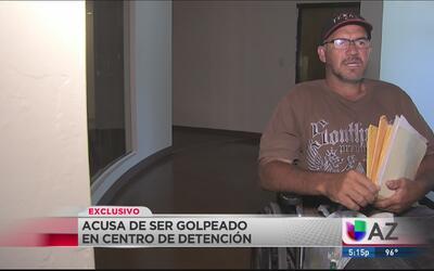 Inmigrante denuncia brutal golpiza en centro de detención