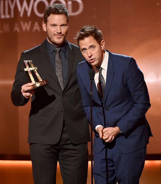 El actor Chris Pratt y el director James Gunn aceptaron el Premio 'Block...