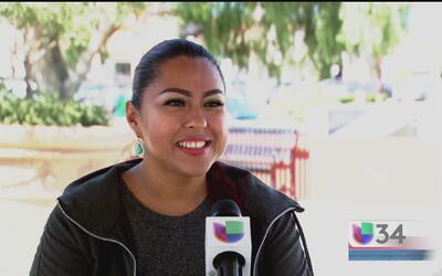 Denisse agradece a sus padres haber buscado el sueño americano