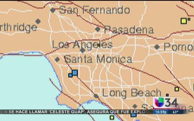 Se registra sismo de 2.6 grados a 2.5 millas de Gardena
