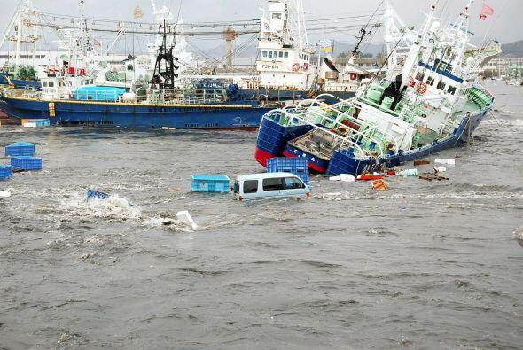 Los movimientos originaron un tsunami de 7 metros. El gobierno japon&eac...