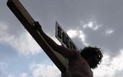Así es la representación más real de la pasión de Cristo en México