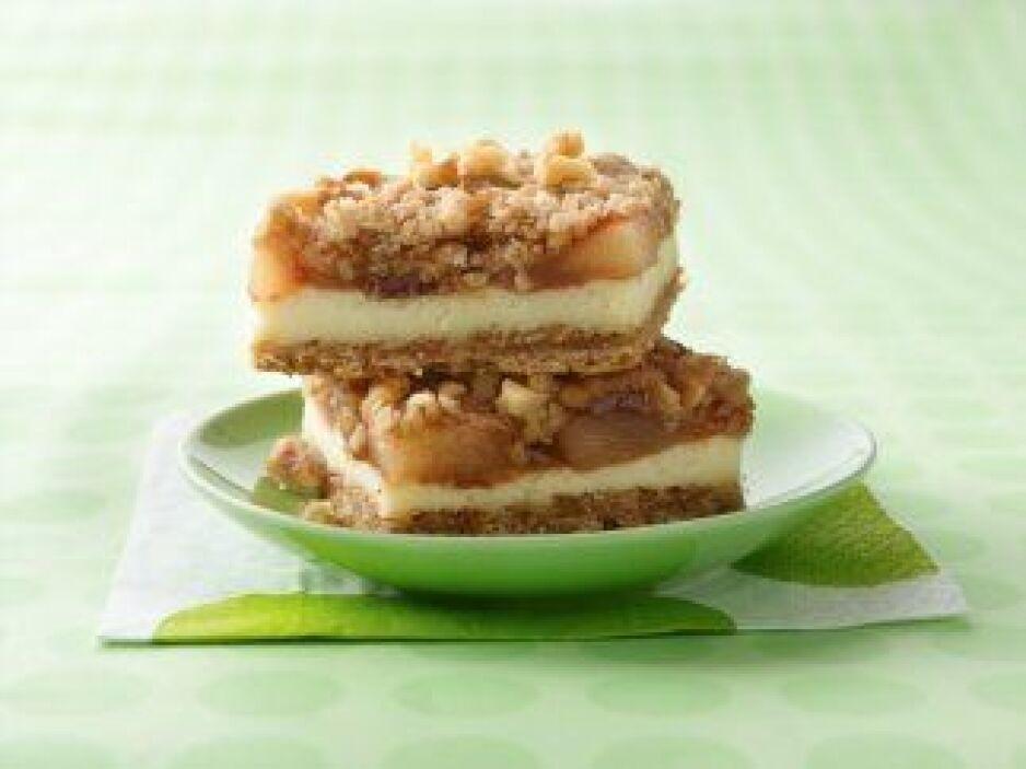 Barras de pastel de queso con manzana: Prueba este postre. ¡Premio de la...