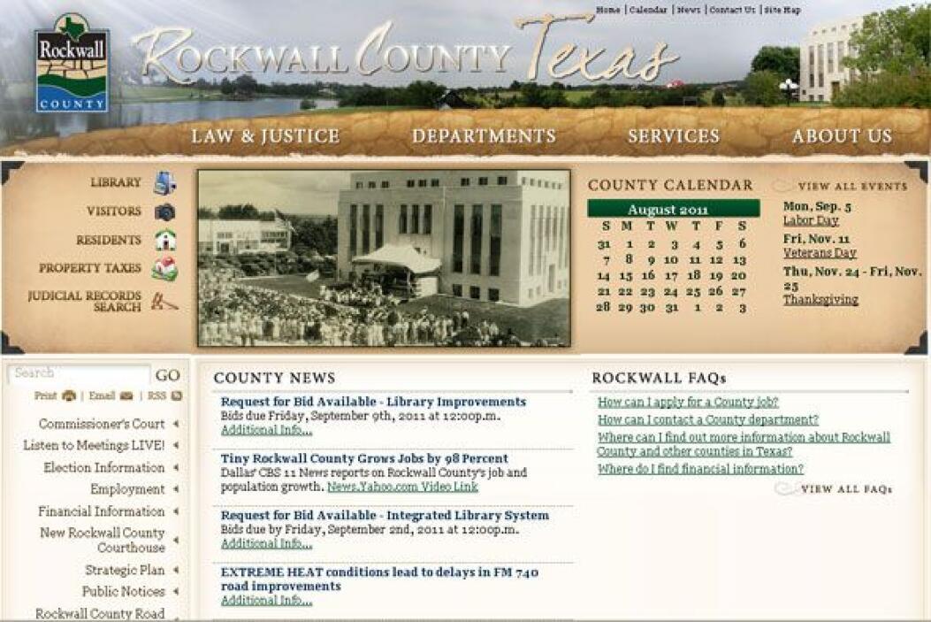 1. ROCKWALL COUNTY, TEXAS- A pesar de ser uno de los condados más pequeñ...