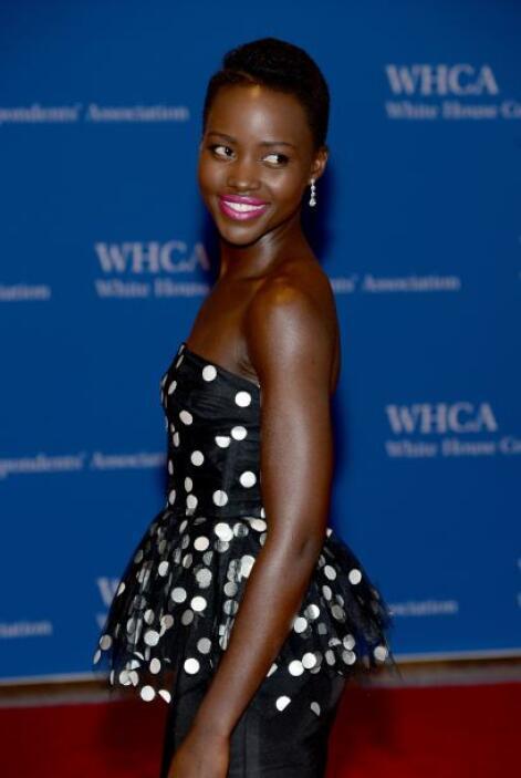 La ganadora del Oscar Lupita Nyong'o tampoco podía perderse el evento co...