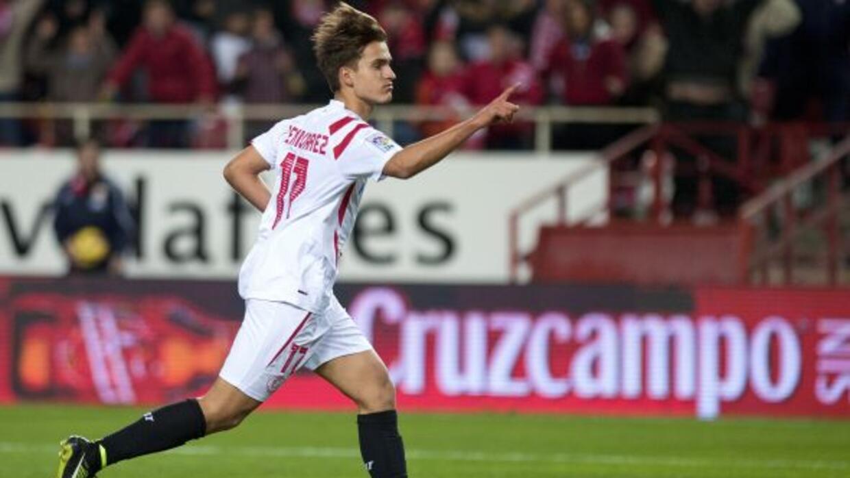 Denis Suárez marcó el segundo gol de los sevillanos.
