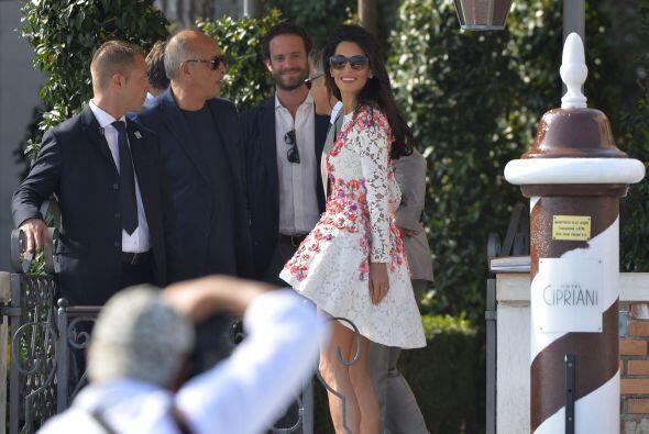 Clooney no dudó ni dos veces en presumir a su flamante esposa.