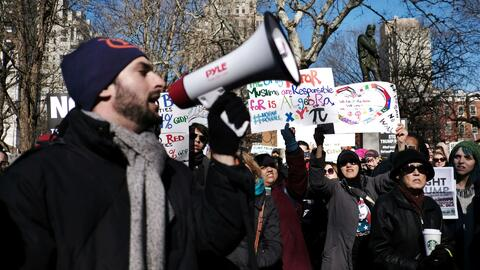 Nuevas protestas en Nueva York para rechazar las políticas de inmigració...