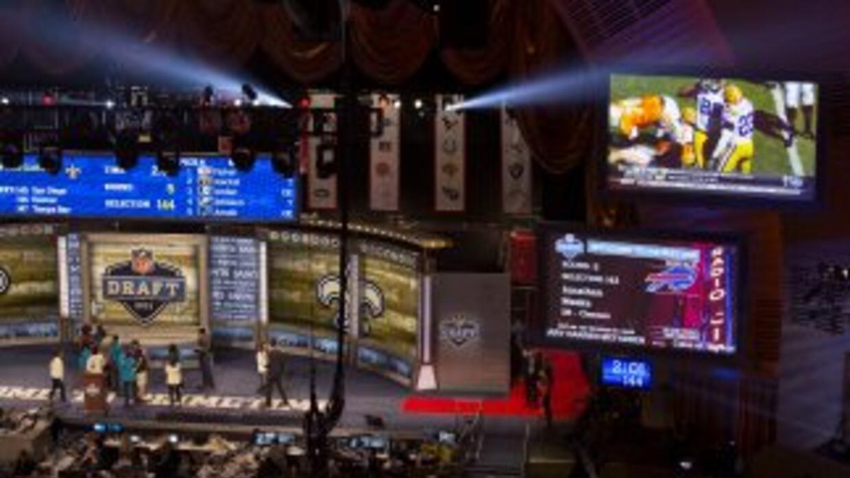 El Draft se celebra en el Radio City Music Hall (AP-NFL).