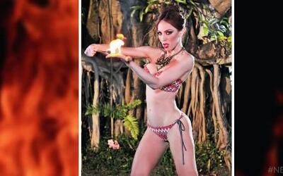 Alicia Machado se puso candente con su equipo al hacerlas posar con fuego