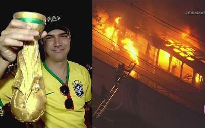 Desilusión, violencia y frustración por eliminación de Brasil
