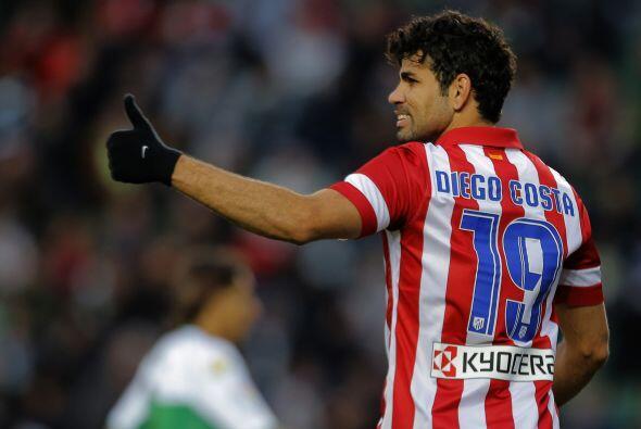 Es el 15º gol en el campeonato español de Diego Costa, que se sitúa a do...