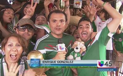 Mexicanos celebran la goleada a Croacia