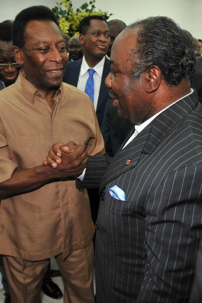 Estuvo siempre muy bien acompañado por Ali Bongo Ondimba, preside...