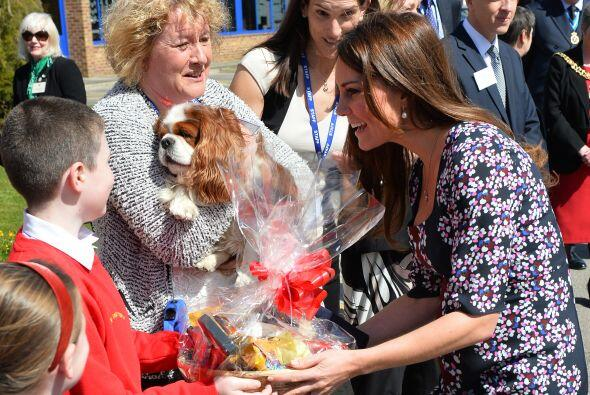 Esta no es la primera vez que Kate Middleton se deja ver sola en un even...