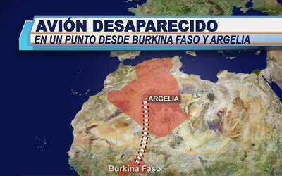Desaparece avión con 110 pasajeros en el norte de África