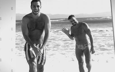 La pareja de Ricky Martin presume en las redes sociales el cuerpazo de s...