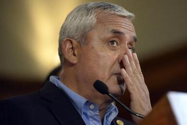 Piden quitar inmunidad a Otto Perez Molina