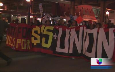Gran participación por la lucha por los $15 en Chicago