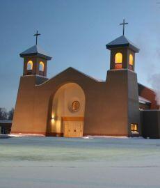 Iglesia de nuestra Señora de Guadalupe en Anchorahe, Alaska.