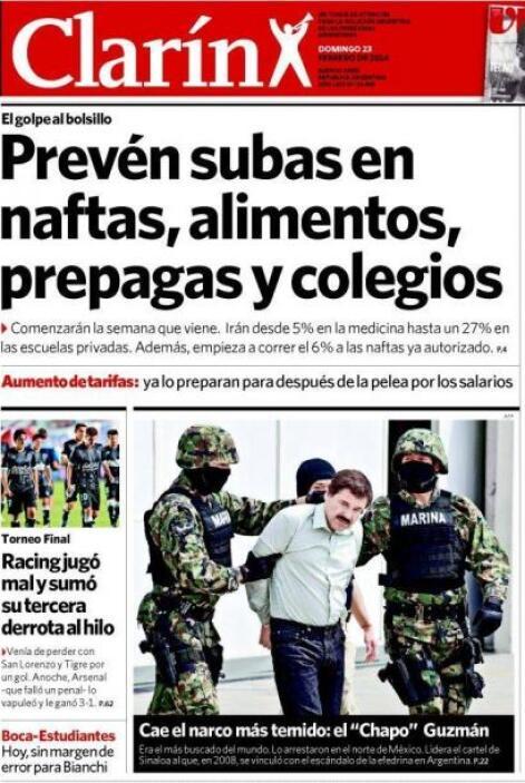 Y en el sur de América, la noticia también fue recibida como pólvora.
