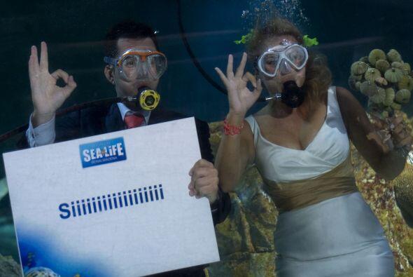 Otra de las temáticas más extrañas para una boda es hacerla bajo el agua...
