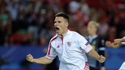 Kevin Gameiro anotó los dos goles del Sevilla.