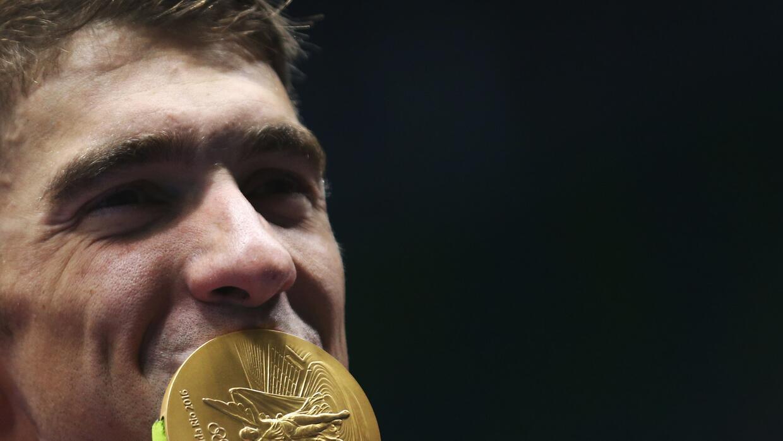 Michael Phelps tras haber ganado su quinta medalla de oro en Río...