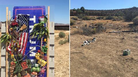 El antes y después del muro simbólico creado por los artis...