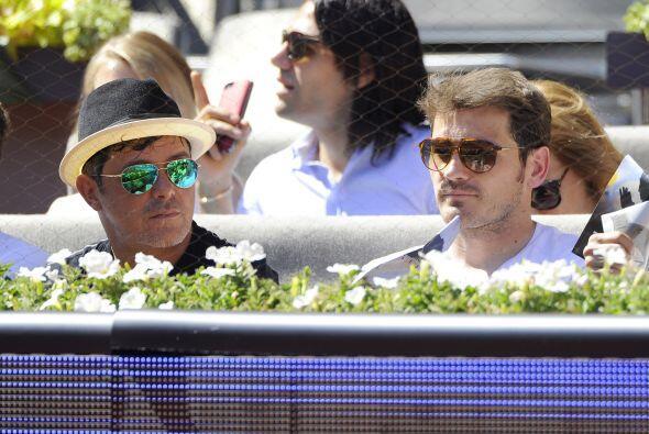 Alejandro Sanz e Iker Casillas disfrutaron juntos de la final del abiert...