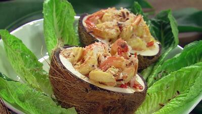 Receta de Camarones con coco